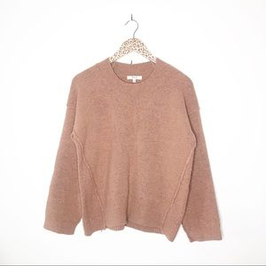 Madewell Connection Crewneck Sweater in Dusty Rose